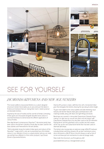 jacaranda kitchens and new age veneers in queensland homes magazine autumn edition 2016